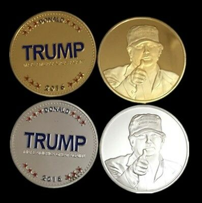President Donald Trump Make America Great Again (1 Gold & 1 Silver) Plated Coins