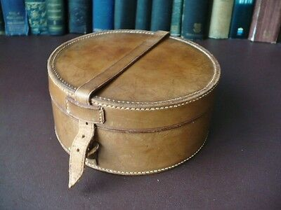 Edwardian Leather Collar Box - Quality Antique Leather Box - Collars - Boxes