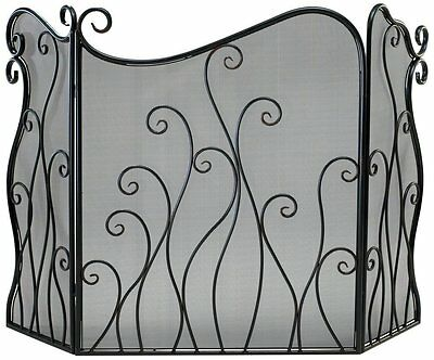 Evalie Iron Fire Screen with Mesh Backing 02558