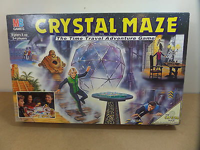 The Crystal Maze Board Game, Mb Games 1991 - Great Condition