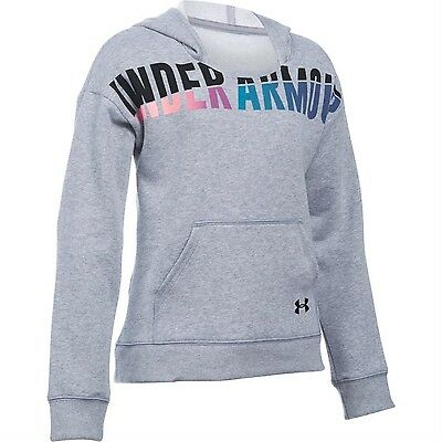 Under Armour UA Girls Grey Favourite Fleece Pullover Hoodie