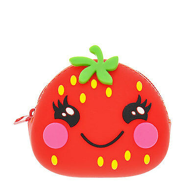 Claire's Girls and Womens Happy Strawberry Jelly Coin Purse