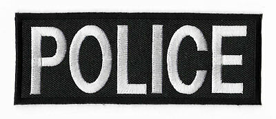 POLICE Patch Embroidered Iron Sew on Badge Tactical Vest Jacket Costume Cosplay