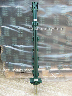 Green 3FT Poly Posts Packs of 10 - 50 Stakes & 20mm Electric Fence Tape Option