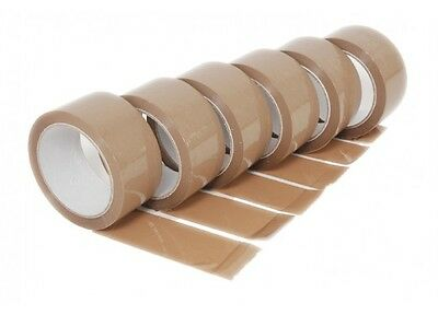 NEW 12 ROLLS Brown PARCEL PACKING TAPE PACKAGING CARTON SEALING 48MM X 66M