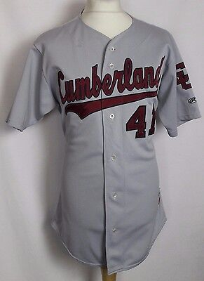 "#41 Vintage Cumberland Baseball Jersey Shirt Mens 46"" Rawlings Grey"