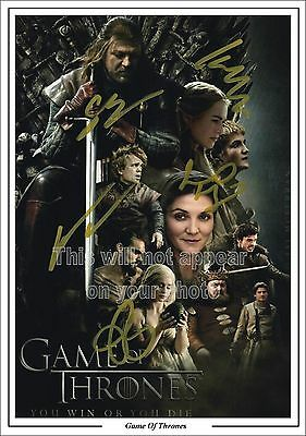 Game Of Thrones Cast Signed Photo Jon Snow, Kit Harrington ETC , Pre-Print  A4