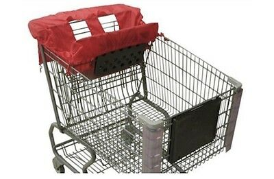 COSSETTIE Red Compact Shopping Cart & High Chair Cover by Cossettie NEW!