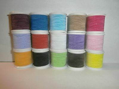 QUALITY 1mm ROUND ELASTIC CORD FOR HATS / BEADING / CRAFTS.