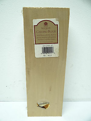 New 4111 Walnut Hallow Wood Solid Basswood Kiln Dried Wildling Carving Block