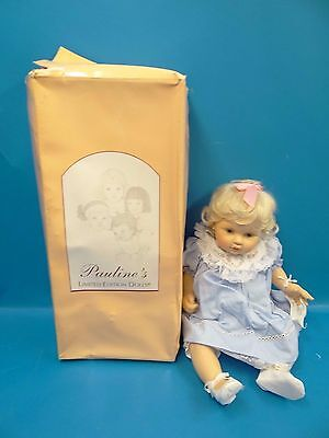 Limited Edition Paulines Sydney Bjonness-Jacobsen Baby Girl Doll with Box