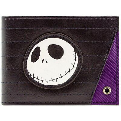 New Official Nightmare Before Christmas Jack Skellington Stitched Bi-Fold Wallet