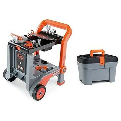 Black & Decker Workmate Trolley with Toolbox-3 IN 1 Children's Workbench Playset