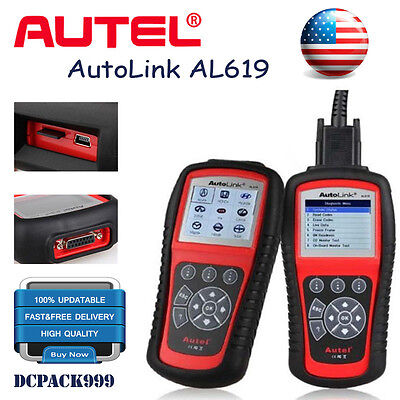 Autel AL619 Autolink OBD2 CAN Code Reader SRS ABS Airbag Engine Diagnostic Tool