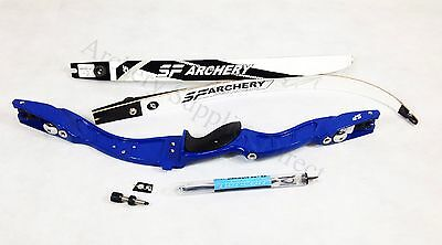 New Right Handed Blue SF Archery Axiom Recurve Take Down Bow Set Complete