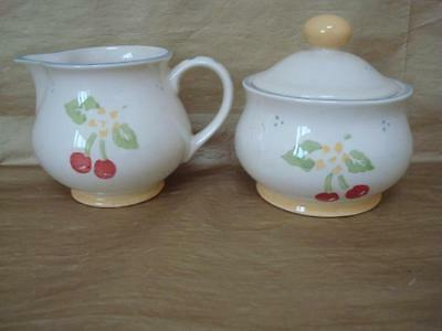 Laura Ashley Morello Milk Jug And Lidded Sugar Bowl