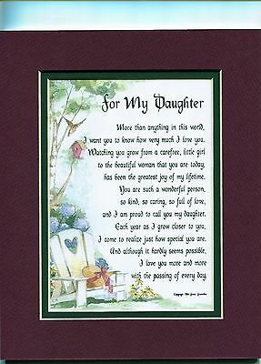 47 A Poem Gift 16th 18th 21st 30th Birthday Present For Daughter