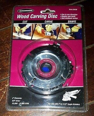 "Brand New Warrior Wood Carving Disc! 4"" Diameter & 5/8"" Arbor ~Model 61638~"