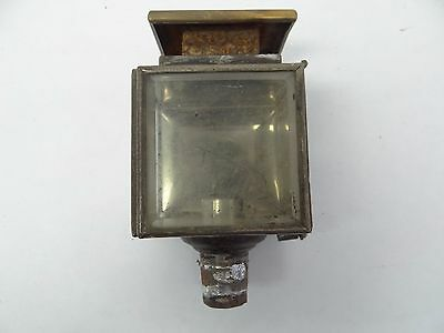 Antique C. Cowles Co Beveled Glass Metal Small Candle Sconce Body Lantern Lamp