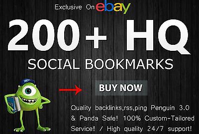 add Your site to 200 High Quality Social Bookmarks do Follow Backlinks