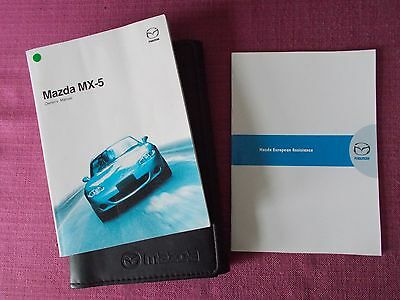 Mazda Mx-5 (2001 - 2005) Owners Manual - Owners Guide - Handbook. (Yjl 1243)
