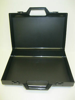 Black Plastic Carrying Briefcase -Tools -Laptop-and much more!