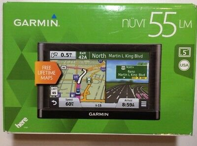 "Garmin Nuvi 55LM 5"" GPS with Lifetime Map New"