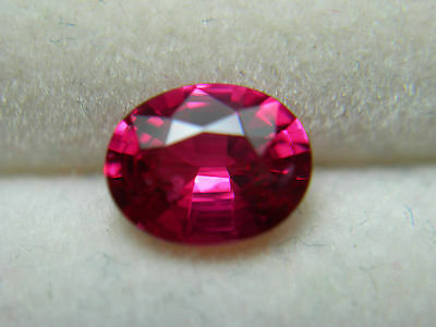 very rare HOT pinkish RED SPINEL FLUORESCENT NATURAL untreated oval