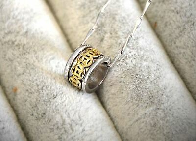 """Chinese Money Pendant 18"""" Solid 925 Sterling Silver necklace Love Her MOM-#171"""