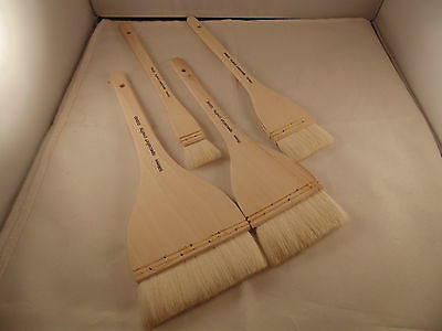 POTTERY CLAY HAKE WASH BRUSH 4PC SET  100mm-75mm-50mm-25mm - RRP £19.99