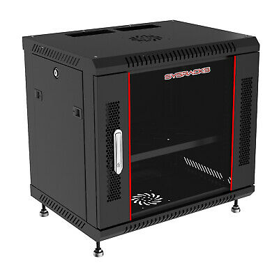 "12U 24"" Deep Wall Mount IT Network Server Rack Cabinet Enclosure. FREE ACCESSORY"