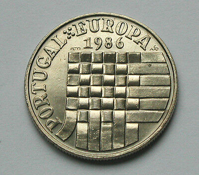 1986 PORTUGAL Euro Common Market Admission Coin 25 Escudos weave ribbon pattern