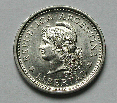 1959 ARGENTINA Coin - 1 Peso - AU++ lustre - liberty head - 25.5mm