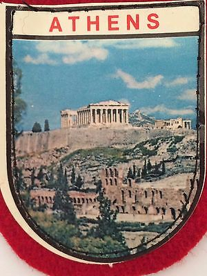 Vintage Athens - Sew On Collectible Souvenir Travel Patch / Badge