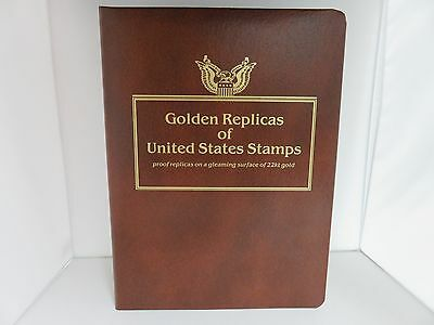 Postal Commemorative Society Golden Replica 22K Classic Stamps Collection & Book