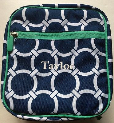 New Pottery Barn Kids Navy, White & Green Classic Lunch Bag Box Tote  TAYLOR PBT