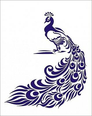 PEACOCK STENCIL FOR Airbrush Painting Art Craft DIY Home Decor