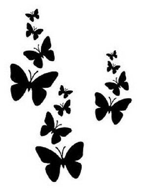 Butterfly set STENCIL FOR Airbrush Painting Art Craft DIY Home Decor