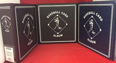 "BCW 3"" Album Binder Baseball - Black Blue Burgandy Lot of 3 NEW!"