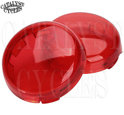 Red Replacement Lens for Harley Turn Signal Lens Set - Deuce Style Signal Lens