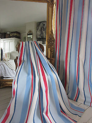 ****SALE**** John Lewis FINLAY RED / BLUE STRIPE NAUTICAL CURTAINS ****SALE****