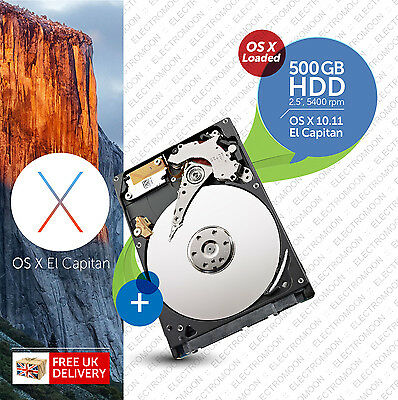 "Macbook Pro, Mac mini :: 500GB 2.5"" :: Bootable Hard Drive (HDD) :: Plug n Play"