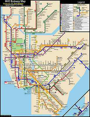 New York City Subway Map Brooklyn.Set Of 2pc Tourist S New York City Nyc Mta Subway Map And City Bus Map Brooklyn