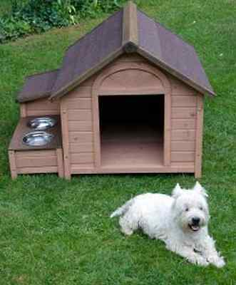 Large Wooden Dog Kennel Winter Warm House Home Weatherproof Roof Shelter Outdoor