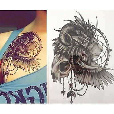 1 Sheet Lion Style Temporary Transfer Tattoo Sticker Dream Catcher Body Art 822
