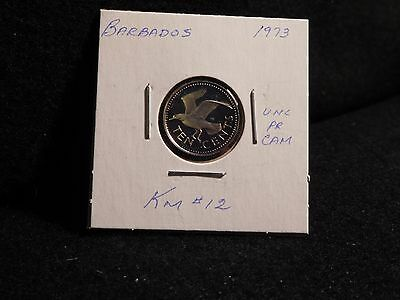 Barbados:   1973   10  Cent  Coin  Proof Hc  (Unc.)    (#3842)  Km # 12