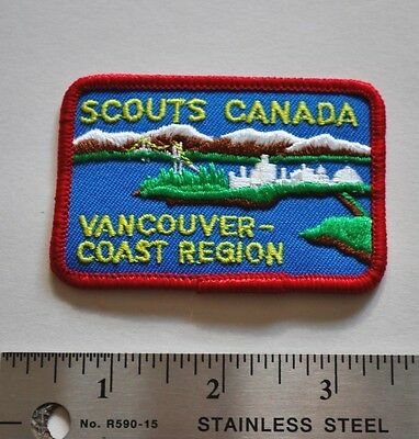 Vancouver-Coast Region, Boy Scouts Canada Badge, Patch, New