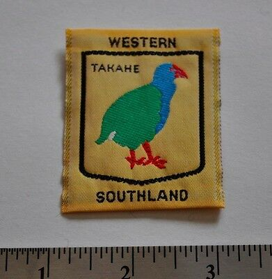 Western Southland, Takahe, New Zealand Boy Scouts Badge Patch, Silk