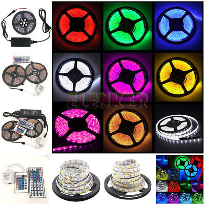 5M 10M SMD RGB 5050/3528/5630 300 LEDs Cool/Warm White Waterproof Strip Light US