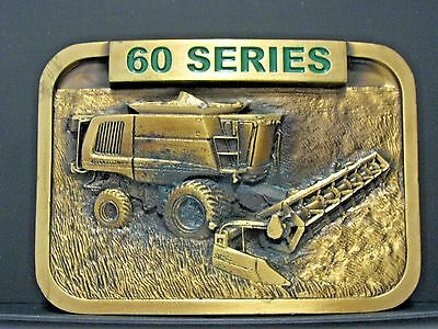 John Deere 60 Series Combine 2004 Service Training Brass Belt Buckle  Australia